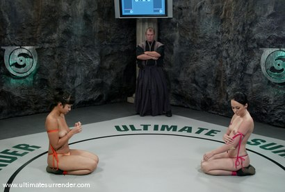 Photo number 2 from The Dragon (17-5)<br>The Badger (0-0) shot for Ultimate Surrender on Kink.com. Featuring Alexa Von Tess and DragonLily in hardcore BDSM & Fetish porn.