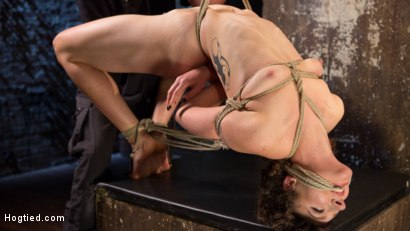 Photo number 6 from First Timer in Extreme Bondage with Brutal Tormented, and Made to Cum shot for Hogtied on Kink.com. Featuring Lilith Luxe and The Pope in hardcore BDSM & Fetish porn.