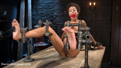Photo number 4 from Daddys Girl shot for Device Bondage on Kink.com. Featuring Skin Diamond and The Pope in hardcore BDSM & Fetish porn.