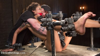 Photo number 8 from Daddys Girl shot for Device Bondage on Kink.com. Featuring Skin Diamond and The Pope in hardcore BDSM & Fetish porn.