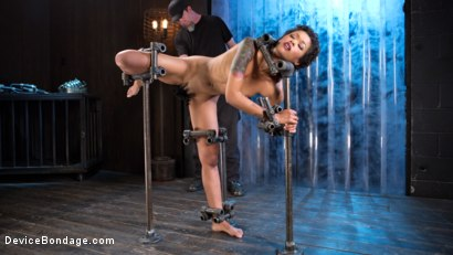 Photo number 2 from Daddys Girl shot for Device Bondage on Kink.com. Featuring Skin Diamond and The Pope in hardcore BDSM & Fetish porn.