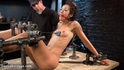 Photo number 9 from Daddys Girl shot for Device Bondage on Kink.com. Featuring Skin Diamond and The Pope in hardcore BDSM & Fetish porn.