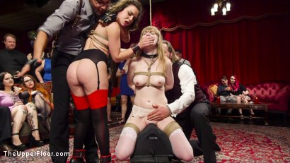 Photo number 14 from Virginal Pussy Slave Fucked For First Time on Camera shot for The Upper Floor on Kink.com. Featuring Juliette March, Dolly Leigh and Mickey Mod in hardcore BDSM & Fetish porn.