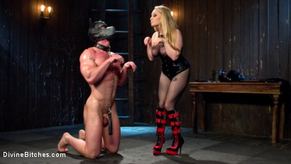 Photo number 1 from Denied and Begging! shot for Divine Bitches on Kink.com. Featuring Aiden Starr and Beau Warner in hardcore BDSM & Fetish porn.