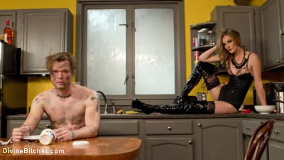 Photo number 3 from The Spoiled Stepford Husband shot for Divine Bitches on Kink.com. Featuring Mike Panic and Mona Wales in hardcore BDSM & Fetish porn.