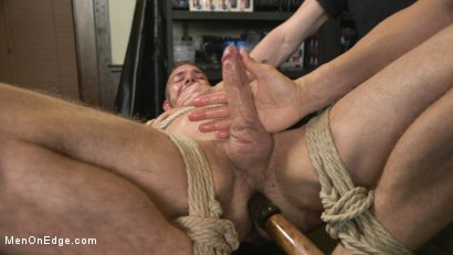 Photo number 13 from New Kink Stud gets Private Edging Session on His First Day at Work shot for Men On Edge on Kink.com. Featuring Tryp Bates in hardcore BDSM & Fetish porn.