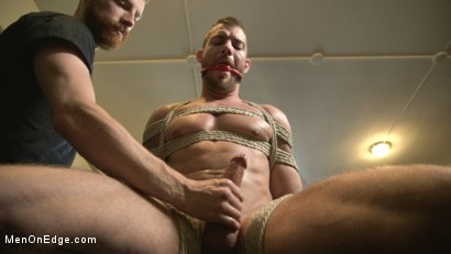 Photo number 3 from New Kink Stud gets Private Edging Session on His First Day at Work shot for Men On Edge on Kink.com. Featuring Tryp Bates in hardcore BDSM & Fetish porn.