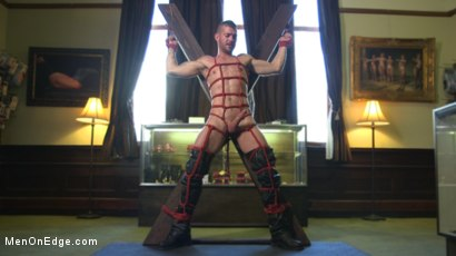 Photo number 5 from New Kink Stud gets Private Edging Session on His First Day at Work shot for Men On Edge on Kink.com. Featuring Tryp Bates in hardcore BDSM & Fetish porn.