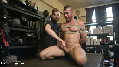 Photo number 10 from New Kink Stud gets Private Edging Session on His First Day at Work shot for Men On Edge on Kink.com. Featuring Tryp Bates in hardcore BDSM & Fetish porn.