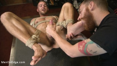 Photo number 14 from New Kink Stud gets Private Edging Session on His First Day at Work shot for Men On Edge on Kink.com. Featuring Tryp Bates in hardcore BDSM & Fetish porn.