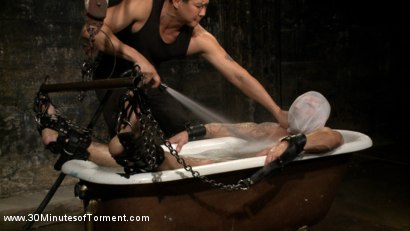 Photo number 4 from Tryp Bates Struggles Against Excruciating Pain and Water Torment shot for 30 Minutes of Torment on Kink.com. Featuring Tryp Bates in hardcore BDSM & Fetish porn.