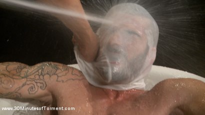 Photo number 5 from Tryp Bates Struggles Against Excruciating Pain and Water Torment shot for 30 Minutes of Torment on Kink.com. Featuring Tryp Bates in hardcore BDSM & Fetish porn.