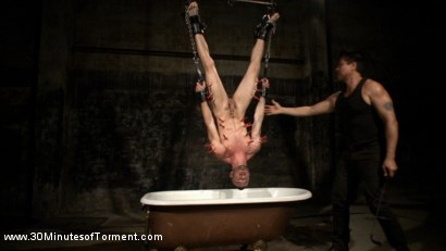 Photo number 8 from Tryp Bates Struggles Against Excruciating Pain and Water Torment shot for 30 Minutes of Torment on Kink.com. Featuring Tryp Bates in hardcore BDSM & Fetish porn.