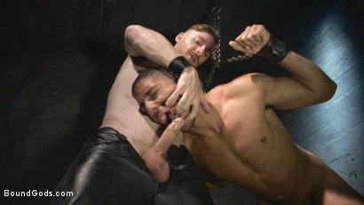 Photo number 5 from Mr Keys beats and fucks tough new slave shot for Bound Gods on Kink.com. Featuring Sebastian Keys and Mike Maverick in hardcore BDSM & Fetish porn.