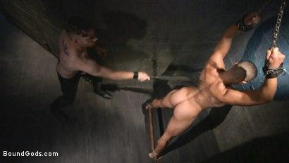 Photo number 7 from Mr Keys beats and fucks tough new slave shot for Bound Gods on Kink.com. Featuring Sebastian Keys and Mike Maverick in hardcore BDSM & Fetish porn.