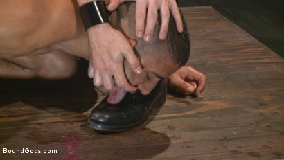 Photo number 12 from Mr Keys beats and fucks tough new slave shot for Bound Gods on Kink.com. Featuring Sebastian Keys and Mike Maverick in hardcore BDSM & Fetish porn.