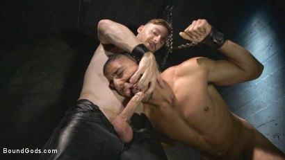 Photo number 5 from Mr Keys beats and fucks tough new slave shot for Bound Gods on Kink.com. Featuring Sebastian Keys and Mike Maverick in hardcore BDSM & Fetish porn.