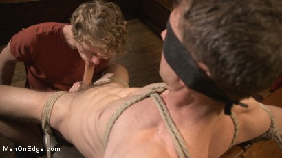 Photo number 9 from Cancelled Birthday Party Becomes a Messy Edging Party shot for Men On Edge on Kink.com. Featuring Brandon Blake in hardcore BDSM & Fetish porn.