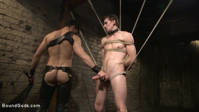 Photo number 13 from Mr. Maddox's Brutal Night of Torment for his New Slave shot for Bound Gods on Kink.com. Featuring Jason Maddox and Jack Hunter in hardcore BDSM & Fetish porn.