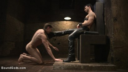 Photo number 4 from Mr. Maddox's Brutal Night of Torment for his New Slave shot for Bound Gods on Kink.com. Featuring Jason Maddox and Jack Hunter in hardcore BDSM & Fetish porn.