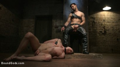 Photo number 2 from Mr. Maddox's Brutal Night of Torment for his New Slave shot for Bound Gods on Kink.com. Featuring Jason Maddox and Jack Hunter in hardcore BDSM & Fetish porn.