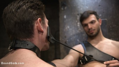 Photo number 3 from Mr. Maddox's Brutal Night of Torment for his New Slave shot for Bound Gods on Kink.com. Featuring Jason Maddox and Jack Hunter in hardcore BDSM & Fetish porn.