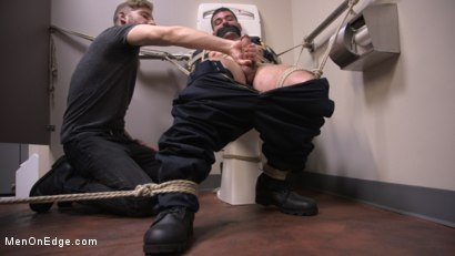 Photo number 11 from Security Guard Edged Beyond his Limit in the Bathroom shot for Men On Edge on Kink.com. Featuring Brogan Reed in hardcore BDSM & Fetish porn.