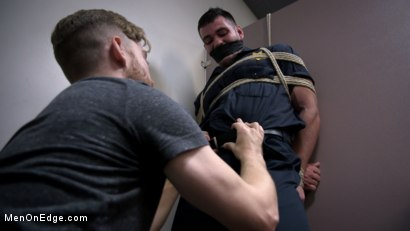 Photo number 13 from Security Guard Edged Beyond his Limit in the Bathroom shot for Men On Edge on Kink.com. Featuring Brogan Reed in hardcore BDSM & Fetish porn.