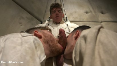 Photo number 6 from Patient and Nurse Battered and Ass Fucked by Sadistic Doctor and His 10 inch Cock shot for Bound Gods on Kink.com. Featuring JJ Knight, Brogan Reed and Sebastian Keys in hardcore BDSM & Fetish porn.