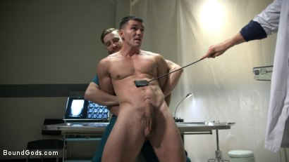 Photo number 1 from Patient and Nurse Battered and Ass Fucked by Sadistic Doctor and His 10 inch Cock shot for Bound Gods on Kink.com. Featuring JJ Knight, Brogan Reed and Sebastian Keys in hardcore BDSM & Fetish porn.