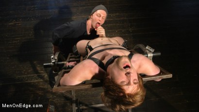 Photo number 1 from Metal Rack to Sleep Sack: Captive Boy's Thick Cock Edged Mercilessly shot for Men On Edge on Kink.com. Featuring Scotty Zee in hardcore BDSM & Fetish porn.