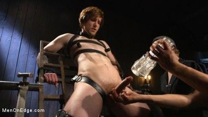Photo number 13 from Metal Rack to Sleep Sack: Captive Boy's Thick Cock Edged Mercilessly shot for Men On Edge on Kink.com. Featuring Scotty Zee in hardcore BDSM & Fetish porn.