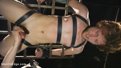 Photo number 3 from Metal Rack to Sleep Sack: Captive Boy's Thick Cock Edged Mercilessly shot for Men On Edge on Kink.com. Featuring Scotty Zee in hardcore BDSM & Fetish porn.