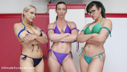Photo number 2 from MILF round Robin Erotic WRestling tournament shot for Ultimate Surrender on Kink.com. Featuring Wenona, Penny Barber and Angel Allwood in hardcore BDSM & Fetish porn.