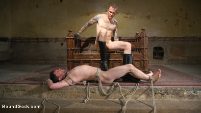 Photo number 11 from Mr. Wilde Shows Cocky Executive Who's the Boss shot for Bound Gods on Kink.com. Featuring Christian Wilde and Jackson Fillmore in hardcore BDSM & Fetish porn.