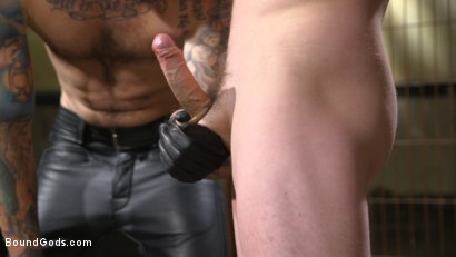 Photo number 5 from Mr. Wilde Shows Cocky Executive Who's the Boss shot for Bound Gods on Kink.com. Featuring Christian Wilde and Jackson Fillmore in hardcore BDSM & Fetish porn.