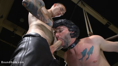 Photo number 6 from Mr. Wilde Shows Cocky Executive Who's the Boss shot for Bound Gods on Kink.com. Featuring Christian Wilde and Jackson Fillmore in hardcore BDSM & Fetish porn.