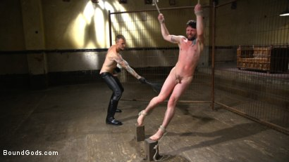 Photo number 7 from Mr. Wilde Shows Cocky Executive Who's the Boss shot for Bound Gods on Kink.com. Featuring Christian Wilde and Jackson Fillmore in hardcore BDSM & Fetish porn.