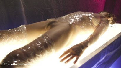 Photo number 2 from TS Foxxy gives Cytherea squirting orgasms that are out of this world shot for TS Pussy Hunters on Kink.com. Featuring TS Foxxy and Cytherea in hardcore BDSM & Fetish porn.