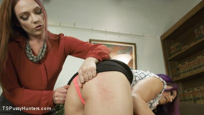Photo number 2 from Kassondra Raine gets a dose of co-worker cock shot for TS Pussy Hunters on Kink.com. Featuring Kassondra Raine and Kelli Lox in hardcore BDSM & Fetish porn.