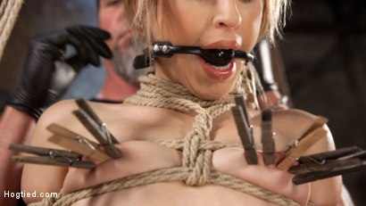 Photo number 15 from Cute LA Porn Slut in Brutal Bondage and Abused then Made to Cum shot for Hogtied on Kink.com. Featuring Goldie Rush and The Pope in hardcore BDSM & Fetish porn.
