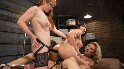 Photo number 14 from Bad Secretary: Hot babe spanked, double penetrated, & dominated! shot for Whipped Ass on Kink.com. Featuring Penny Pax, Cherry Torn and Mia Li in hardcore BDSM & Fetish porn.