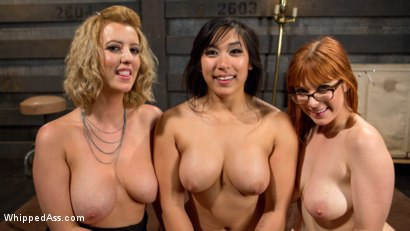 Photo number 18 from Bad Secretary: Hot babe spanked, double penetrated, & dominated! shot for Whipped Ass on Kink.com. Featuring Penny Pax, Cherry Torn and Mia Li in hardcore BDSM & Fetish porn.