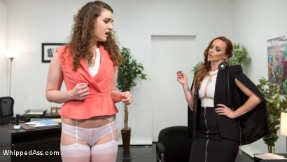 Photo number 3 from The Intern shot for Whipped Ass on Kink.com. Featuring Bella Rossi and Endza Adair in hardcore BDSM & Fetish porn.