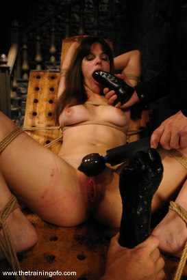 Photo number 13 from Training Report, Day Three of Four shot for The Training Of O on Kink.com. Featuring Bobbi Starr and Evan Stone in hardcore BDSM & Fetish porn.