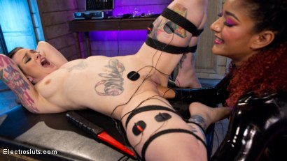 Photo number 9 from The Eager Electroslut: Bound, shocked and fisted! shot for Electro Sluts on Kink.com. Featuring Rizzo Ford and Daisy Ducati in hardcore BDSM & Fetish porn.