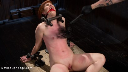 Photo number 1 from Challenge Accepted - Barbary Rose is Destroyed with Extreme Torment!! shot for Device Bondage on Kink.com. Featuring Barbary Rose and The Pope in hardcore BDSM & Fetish porn.