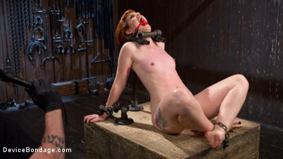 Photo number 3 from Challenge Accepted - Barbary Rose is Destroyed with Extreme Torment!! shot for Device Bondage on Kink.com. Featuring Barbary Rose and The Pope in hardcore BDSM & Fetish porn.