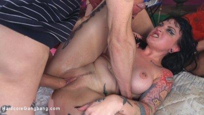 Photo number 11 from Kink Flamingos: Trailer park trash slut gangbanged by 5 horny dudes! shot for Hardcore Gangbang on Kink.com. Featuring Draven Star, Tommy Pistol, Mickey Mod, Owen Gray, Mark Wood and Stallion in hardcore BDSM & Fetish porn.