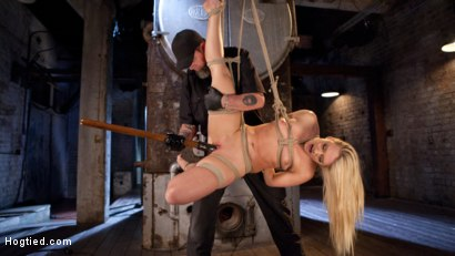 Photo number 11 from AJ Applegate Submits To Grueling Bondage and Torment!!! shot for Hogtied on Kink.com. Featuring AJ Applegate and The Pope in hardcore BDSM & Fetish porn.